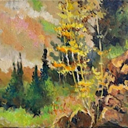 Masood Omer - Yellow Leaves With Rocks