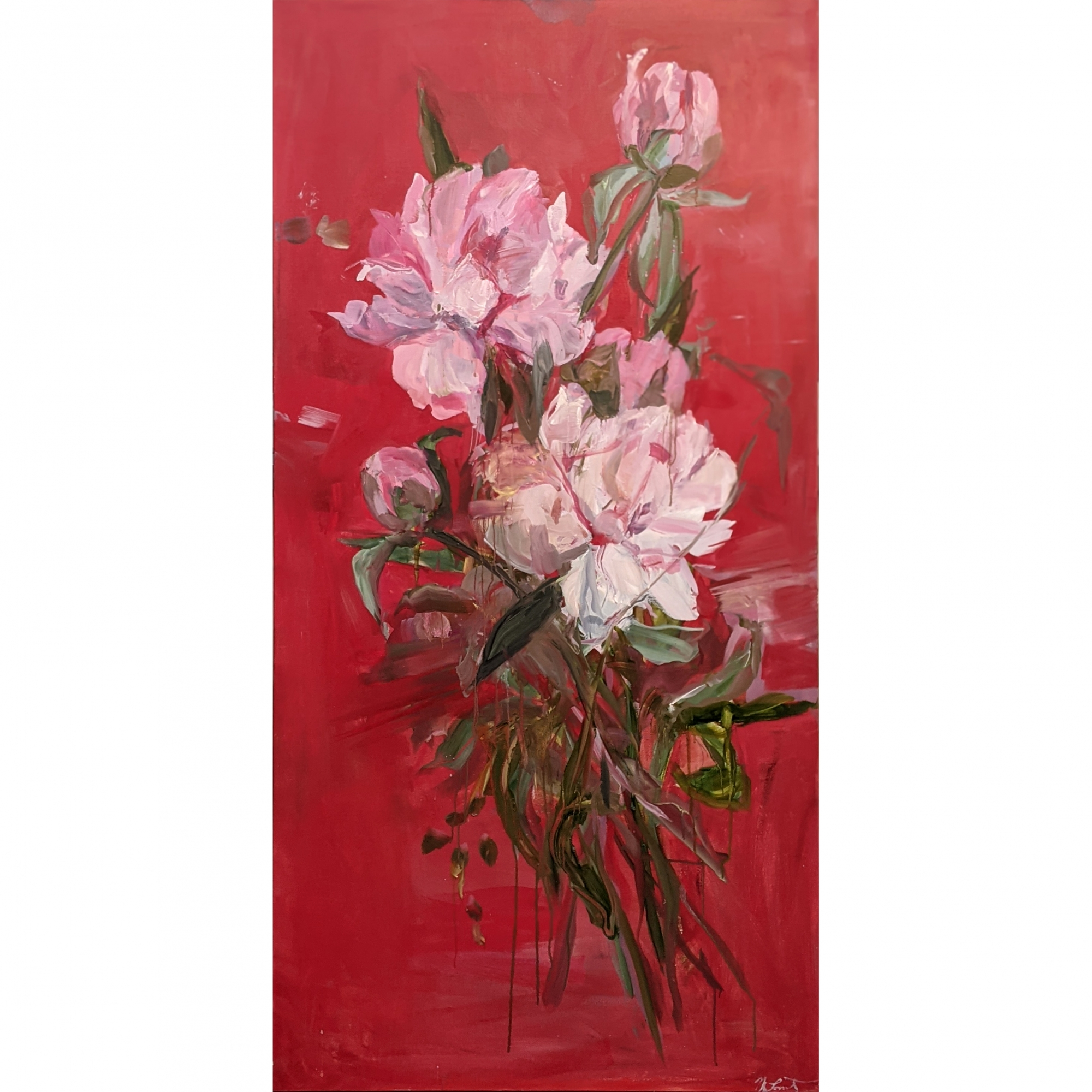 Red Peony by Madeleine Lamont