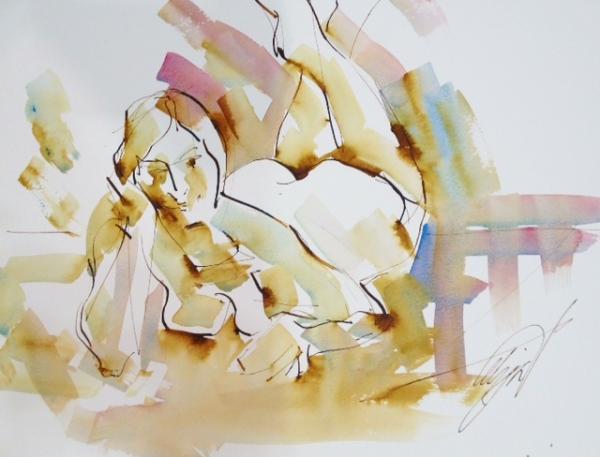 Nude Reclining by Mel Delija