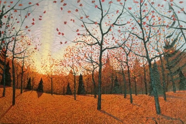 Red Autumn Forest by Mark Berens