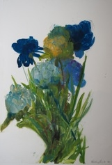 Floral Series (Blue Bouquet) by Madeleine Lamont