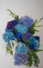 Floral Series (Blue) by Madeleine Lamont