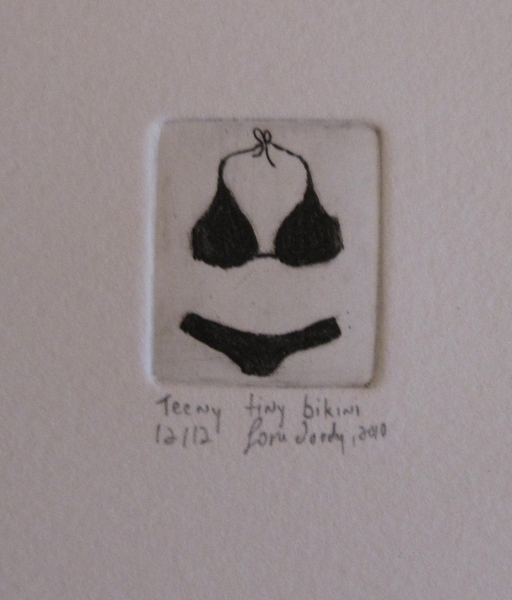 Teeny tiny bikini by Lori Doody