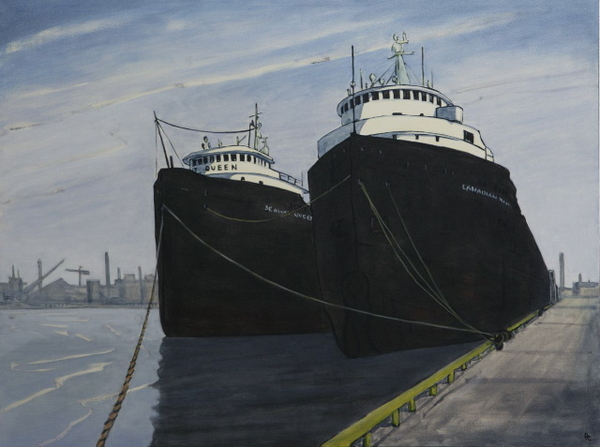 Great Lakes Freighters, Toronto Harbour by Peer Christensen