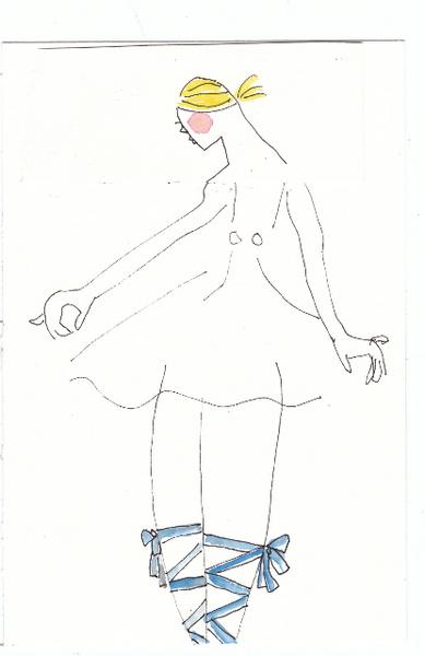 Blonde Ballerina by Diane Lingenfelter