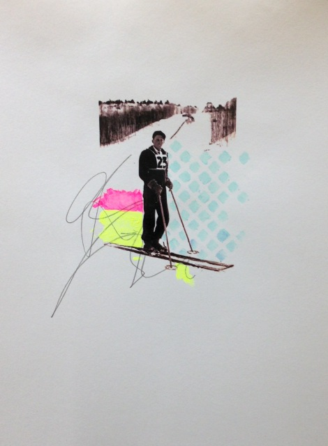 Untitled (Skier II) by Sarah Martin