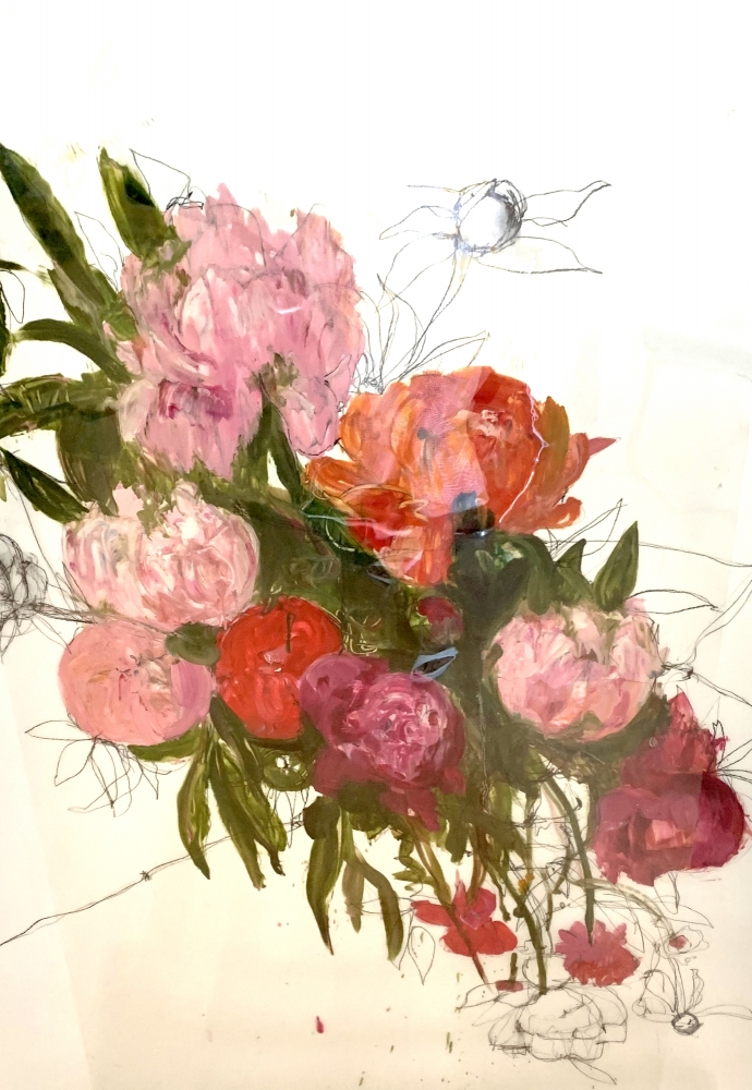 Large Floral Mylar by Madeleine Lamont