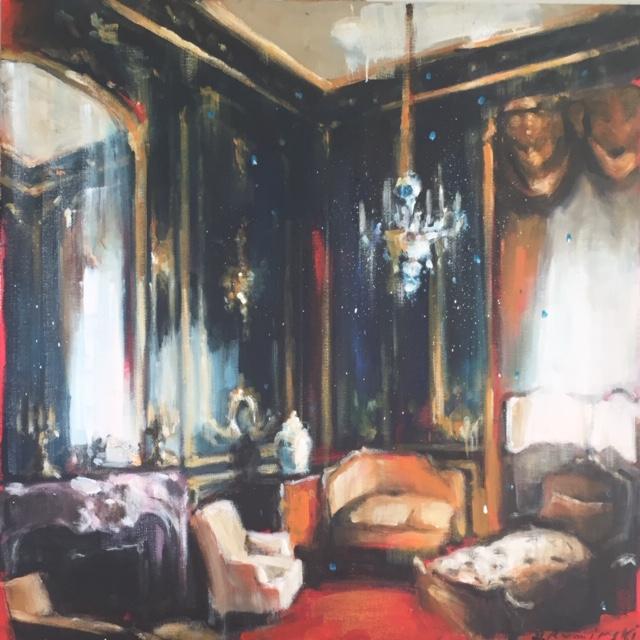 Chateau Interior with Setee by Hanna Ruminski