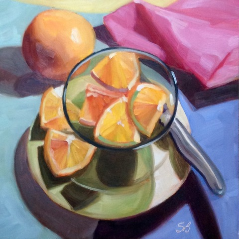 Oranges 2 by Sonja  Brown