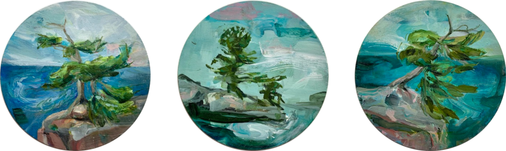 Island Scapes (triptych) by Madeleine Lamont