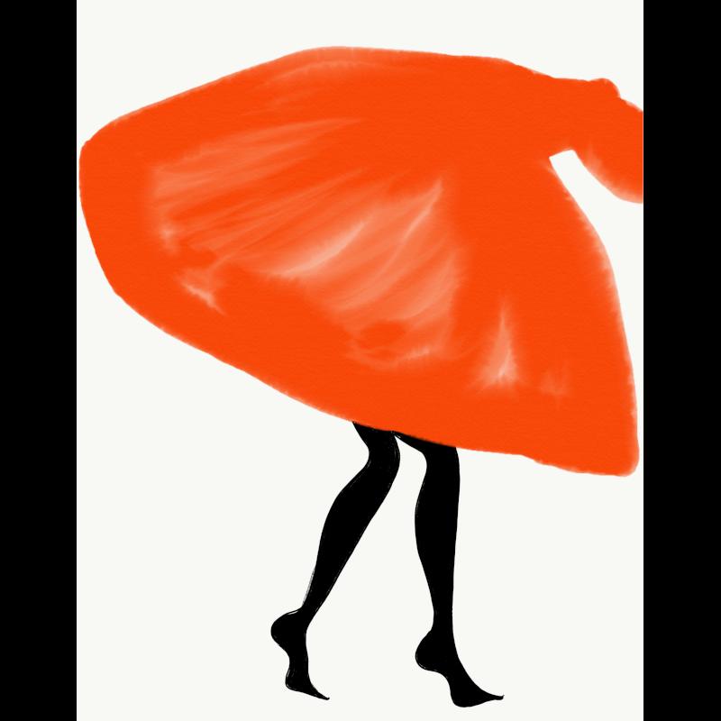 Tangerine Diva by Annie  Naranian