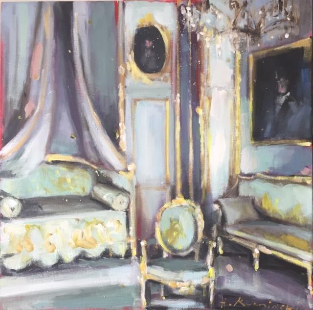 Royal Chamber in Lazienki Palace by Hanna Ruminski