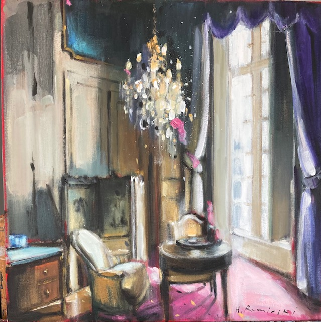 Parisian Apartment in Purple by Hanna Ruminski