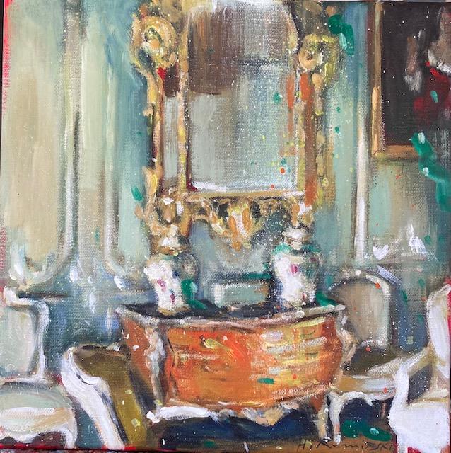 Interior with Bombe Chest by Hanna Ruminski