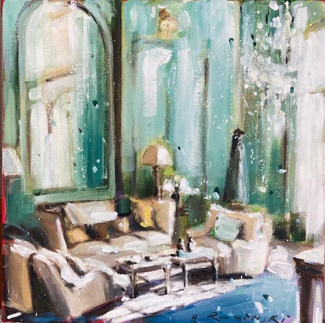 Parisian Apartment in Green III by Hanna Ruminski