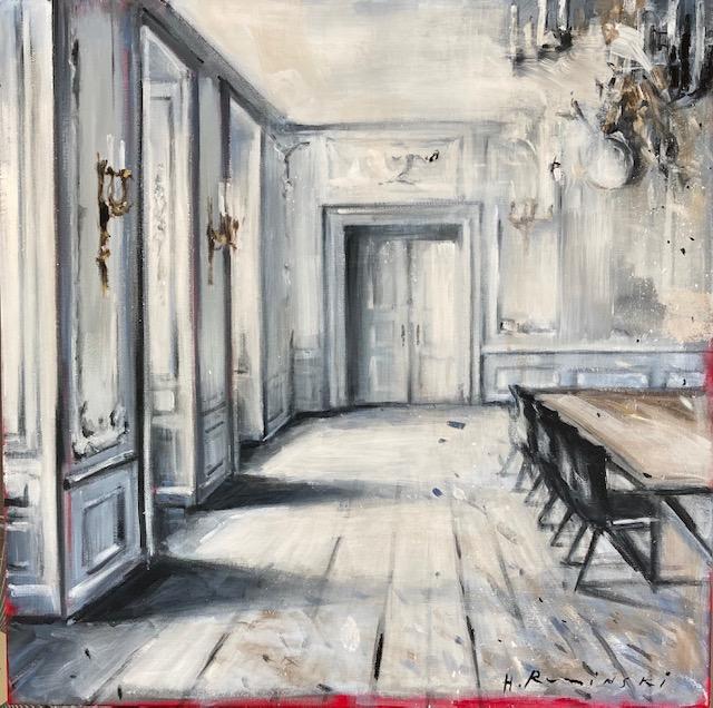 Parisian Apartment in Black and White I by Hanna Ruminski
