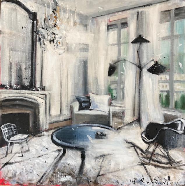 Parisian Apartment in Black and White II by Hanna Ruminski